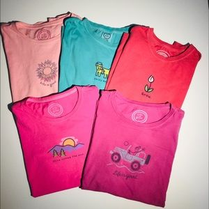 Life is good Tees pack of 5